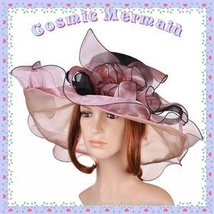 Accessories - 🎊SELECT ANY 2🆕⭐️Organza Floral Wide Brim Hat⭐️